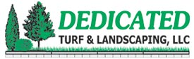dedicated turf and landscaping logo