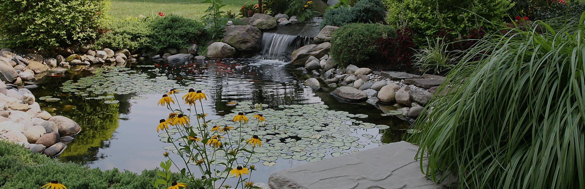 water features backyard